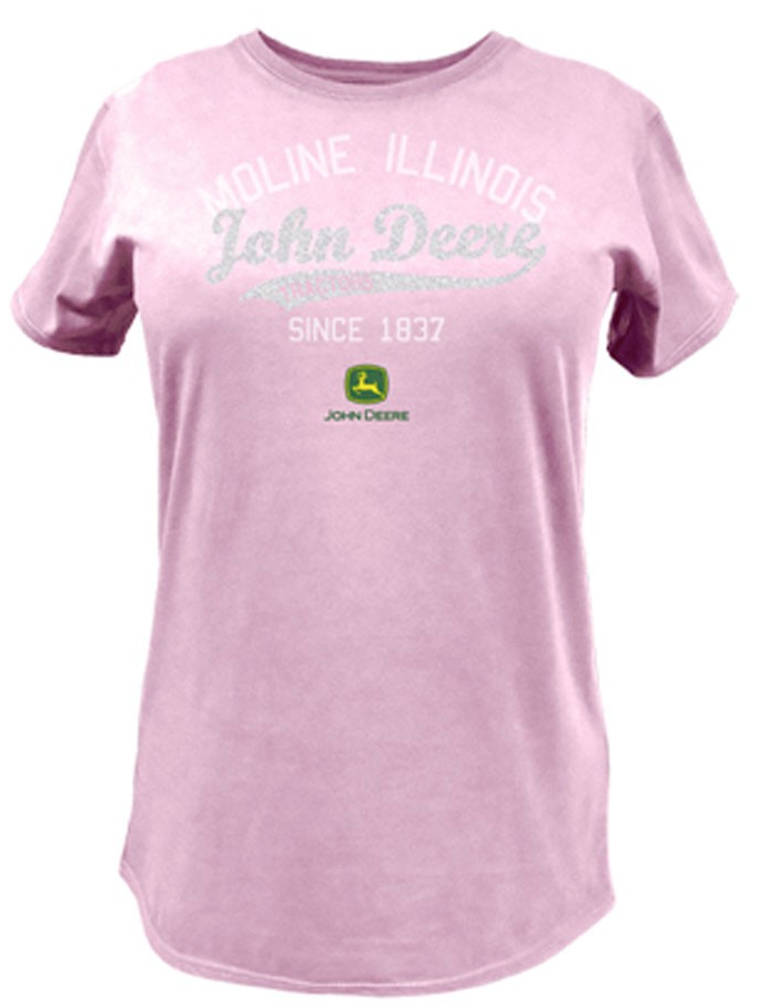 DAMAGED John Deere Glitter Script Tail T-Shirt