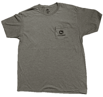 John Deere Light Charcoal Pocket Logo T-Shirt