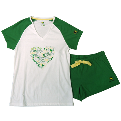 John Deere Word Heart Pajamas