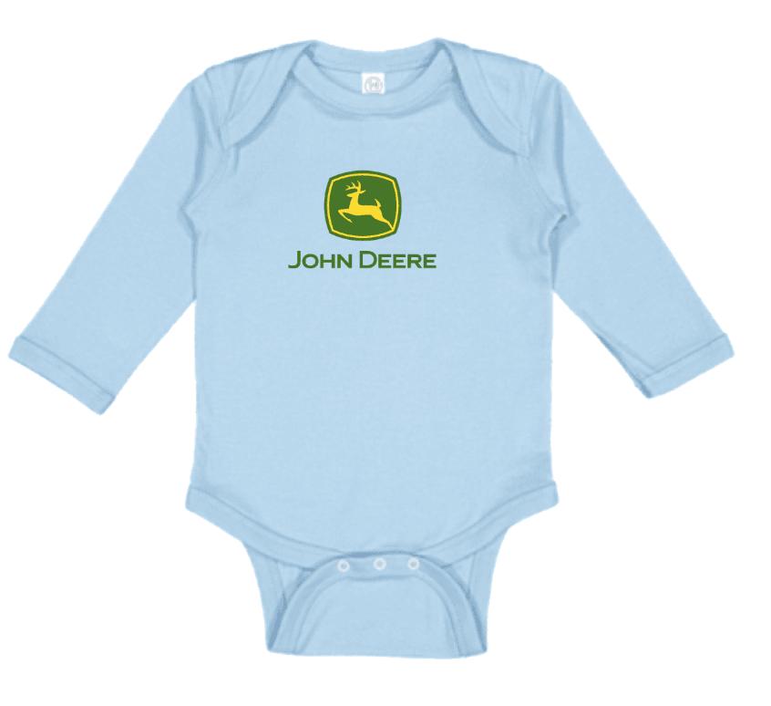 John Deere Long Sleeve Logo Onesie