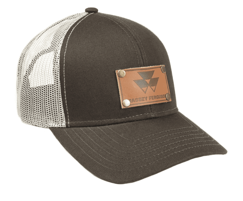 Massey Ferguson Leather Emblem Mesh Baseball Cap
