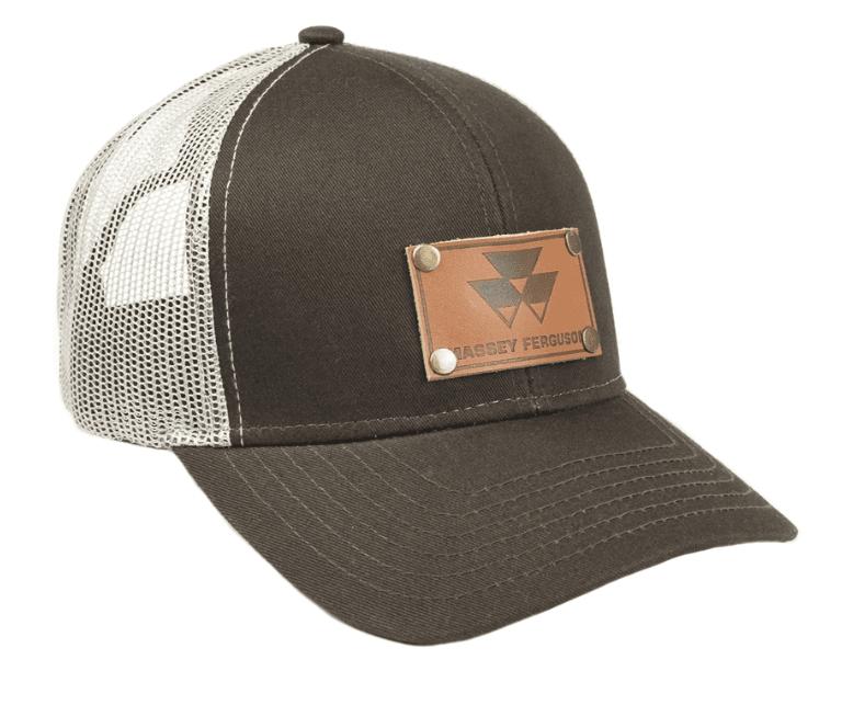 Massey Ferguson Leather Emblem Mesh Baseball Cap