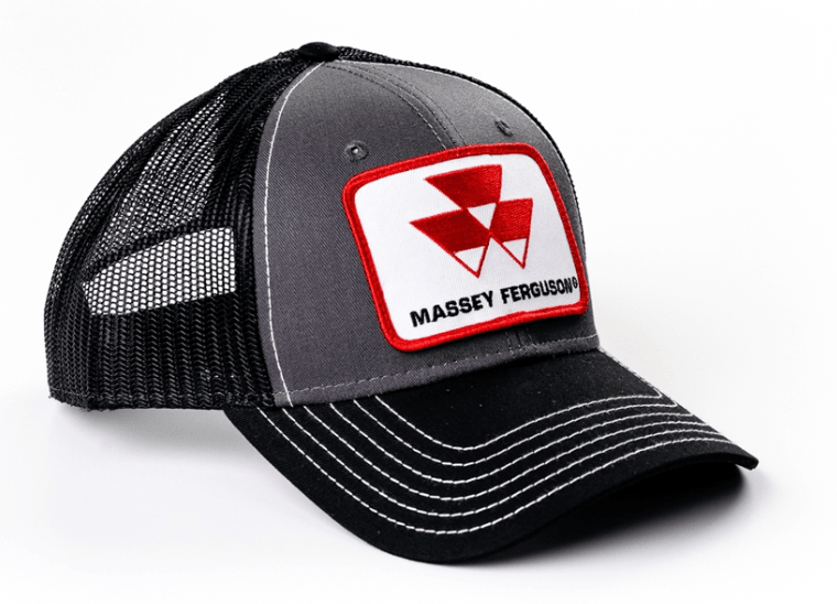 Massey Ferguson Black and Gray Mesh Baseball Cap