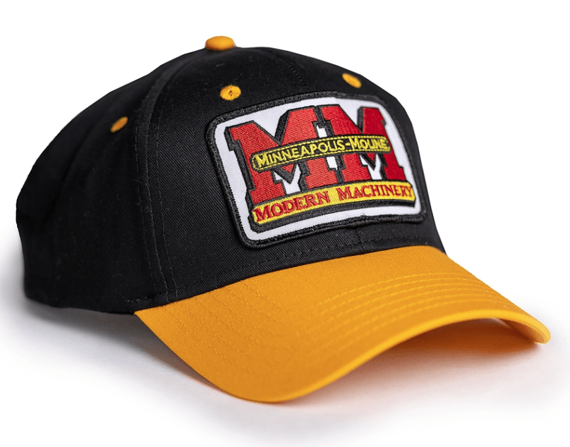 Minneapolis Moline Black and Gold Logo Cap