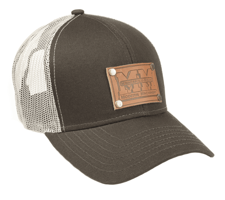 Minneapolis Moline Leather Emblem Mesh Baseball Cap