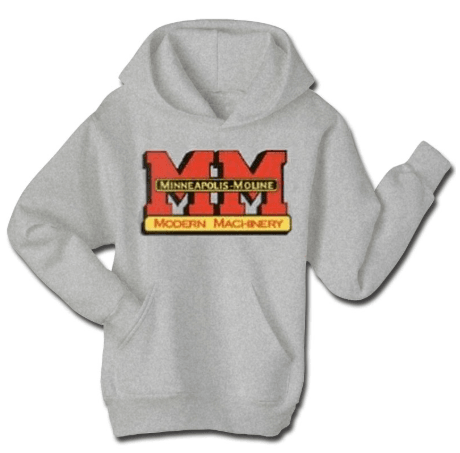 Minneapolis Moline Men's Gray Screen Print Logo Hoodie