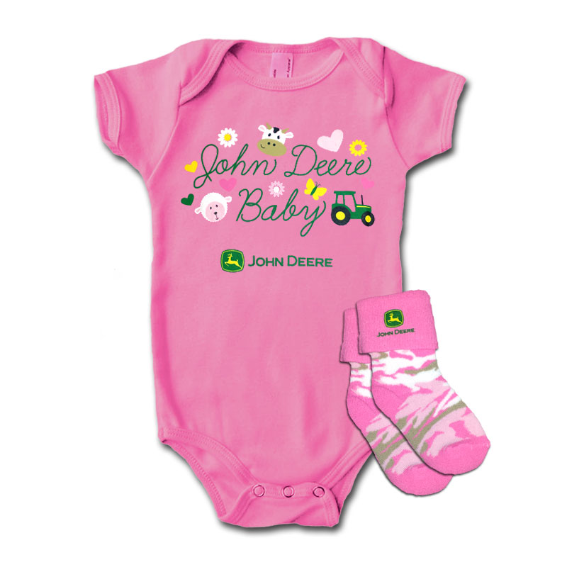 John Deere JD Baby Onesie And Socks Set