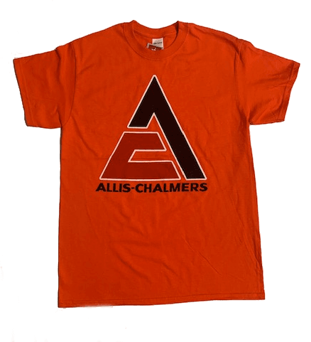 Allis Chalmers Men's Orange Triangle Logo