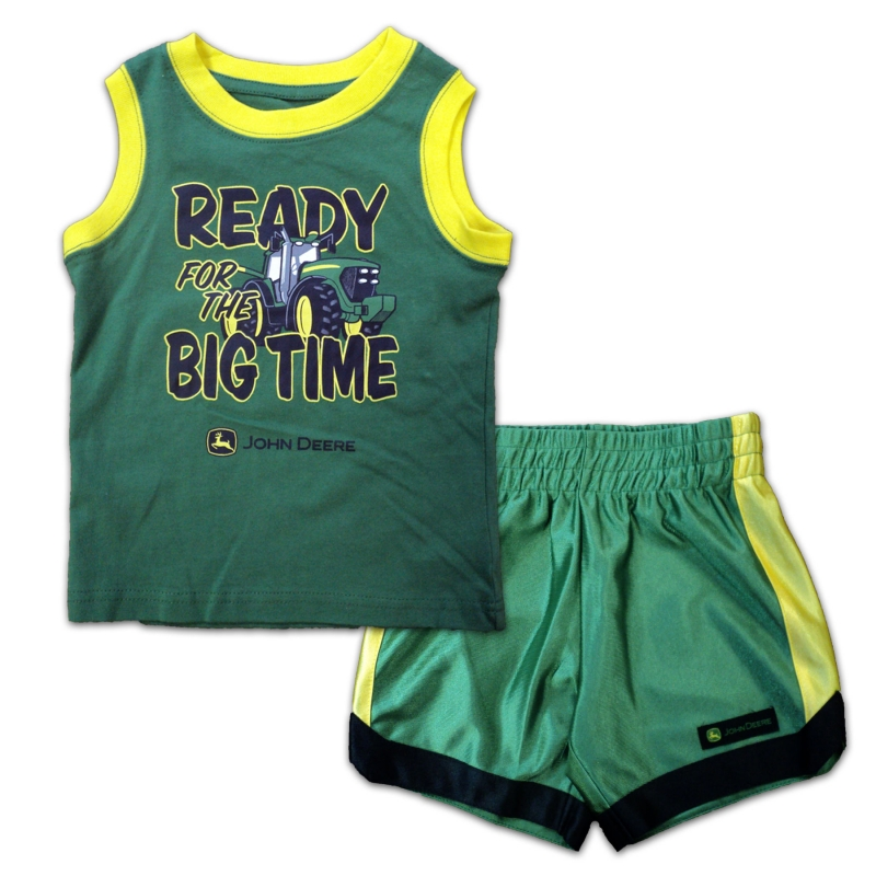 John Deere Ready For The Big Time Shirt And Shorts Set