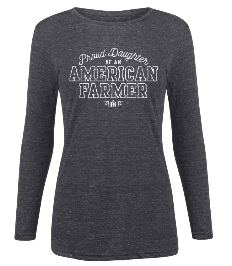 IH Proud Daughter American Farmer Long Sleeve T-Shirt