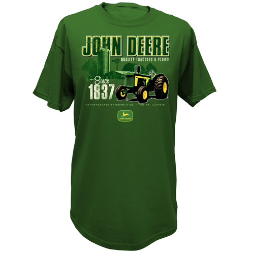 John Deere Quality Tractors and Plows Green