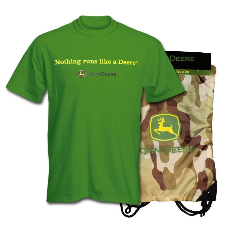 John Deere Nothing Runs Like A Deere T-Shirt And Bag Set