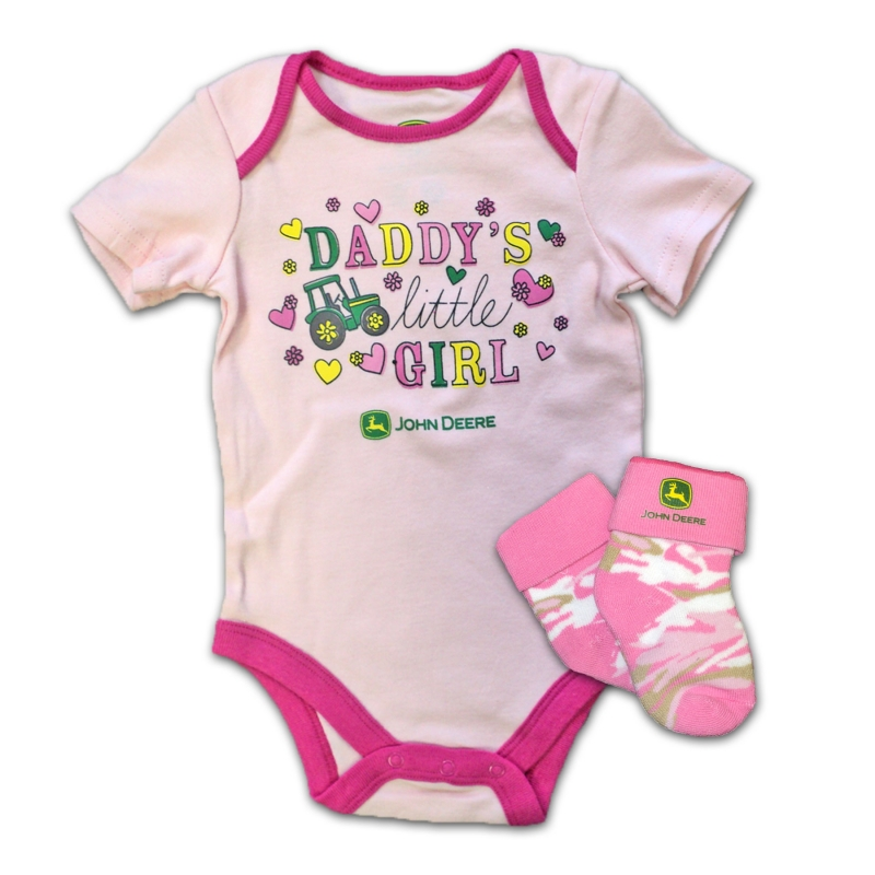 John Deere Daddys Little Girl Onesie And Socks Set