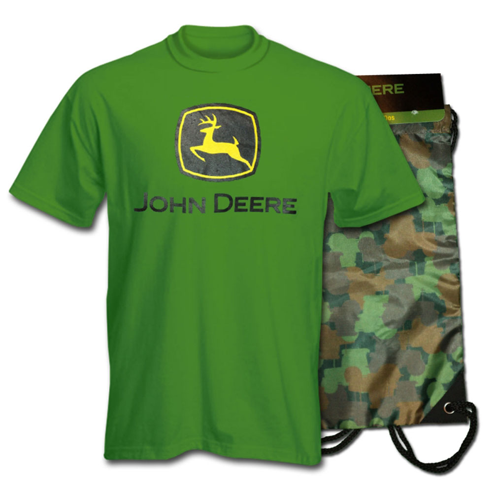 John Deere Logo T-Shirt And Bag Set