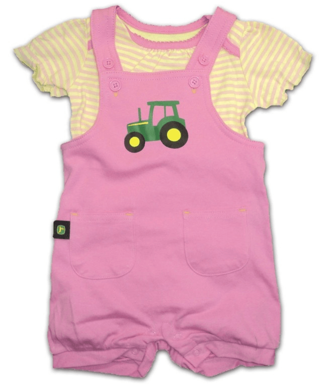 DAMAGED John Deere Onesie and Shortall Set