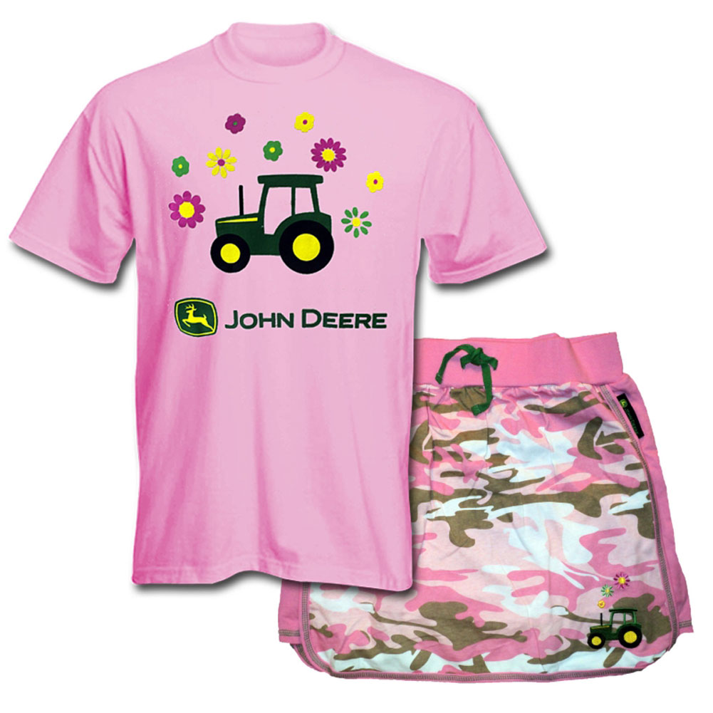 John Deere T-Shirt And Skort Set