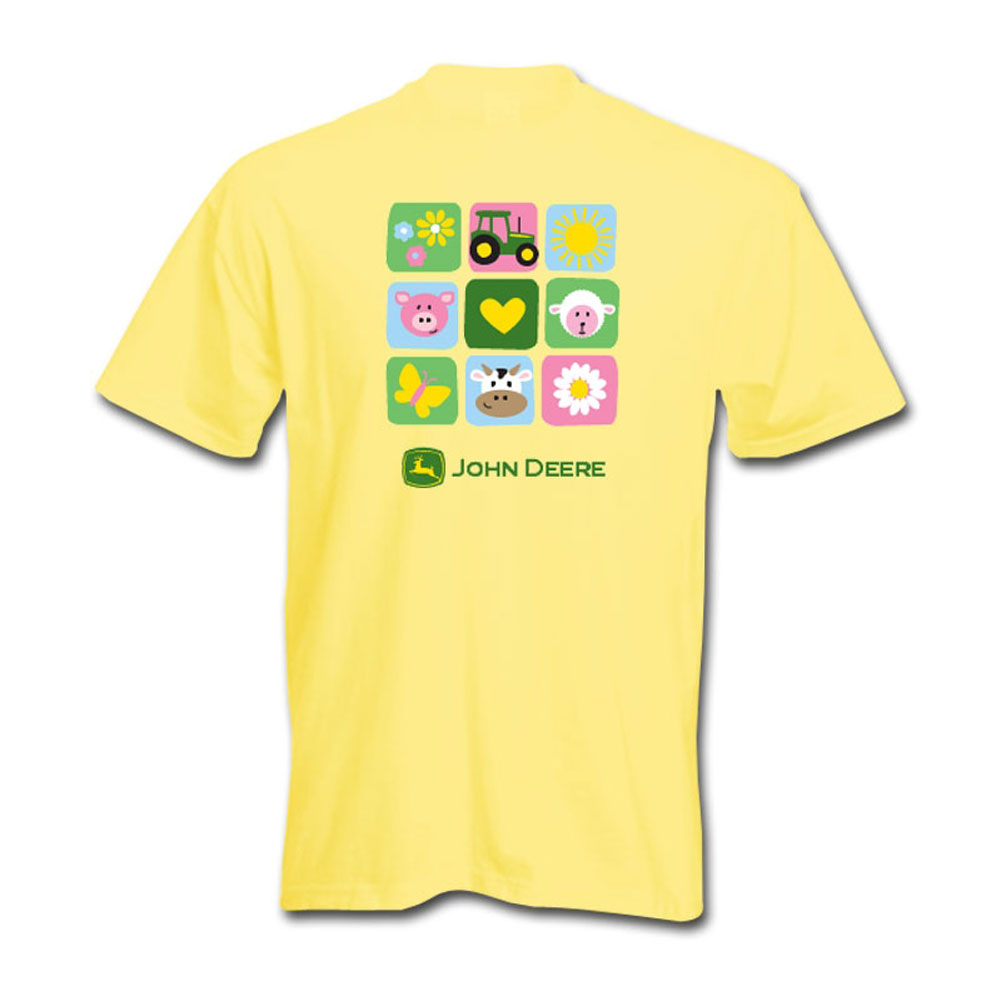 John Deere Farm Animal Squares T-Shirt