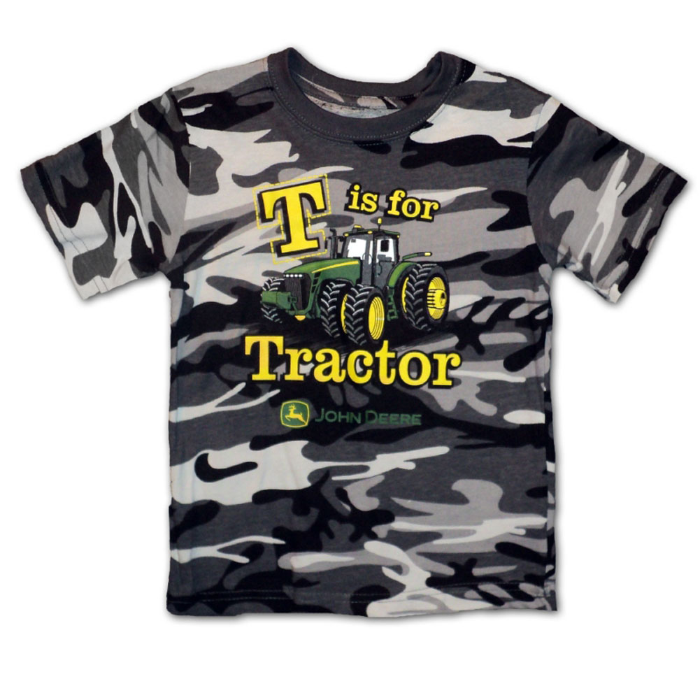 John Deere T Is For Tractor T-Shirt