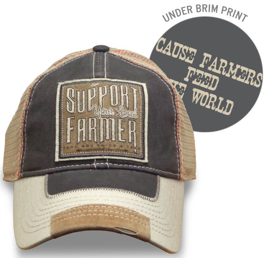 Farm Boy Support Your Local Farmer Mesh Cap