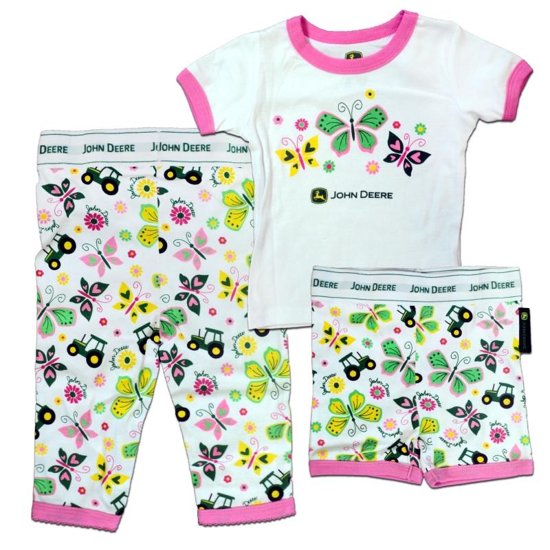 John Deere Butterflies Pajamas Set