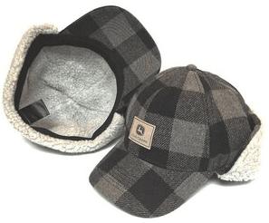 John Deere Plaid Trapper Hat