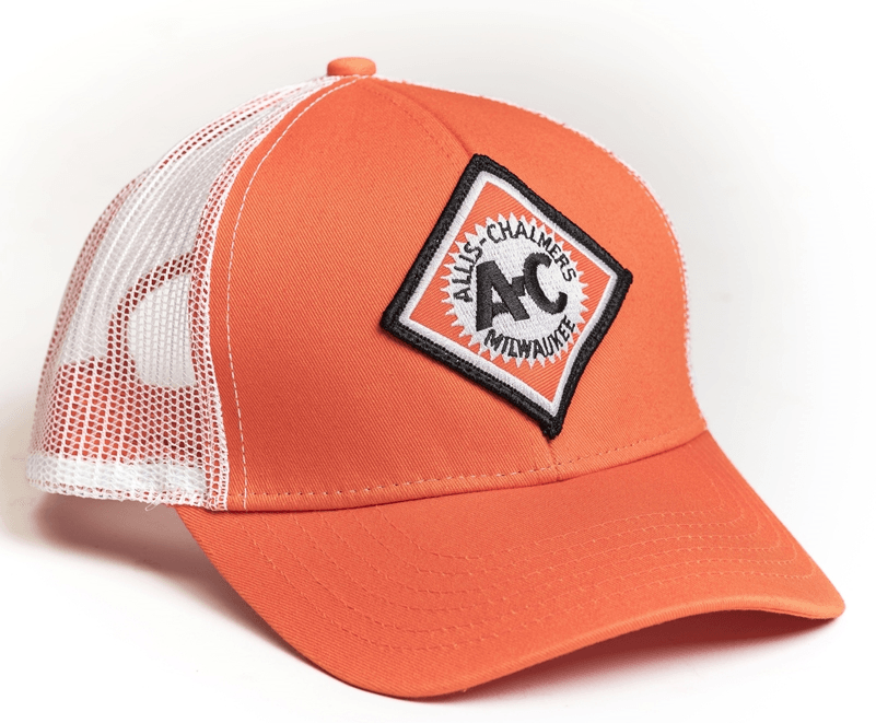 Allis Chalmers Orange Diamond Logo Mesh Baseball Cap